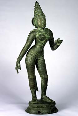 Shri Devi, India, Tamil Nadu, Bronze, 11th century owned by the San Diego Museum of Art, 2004.3